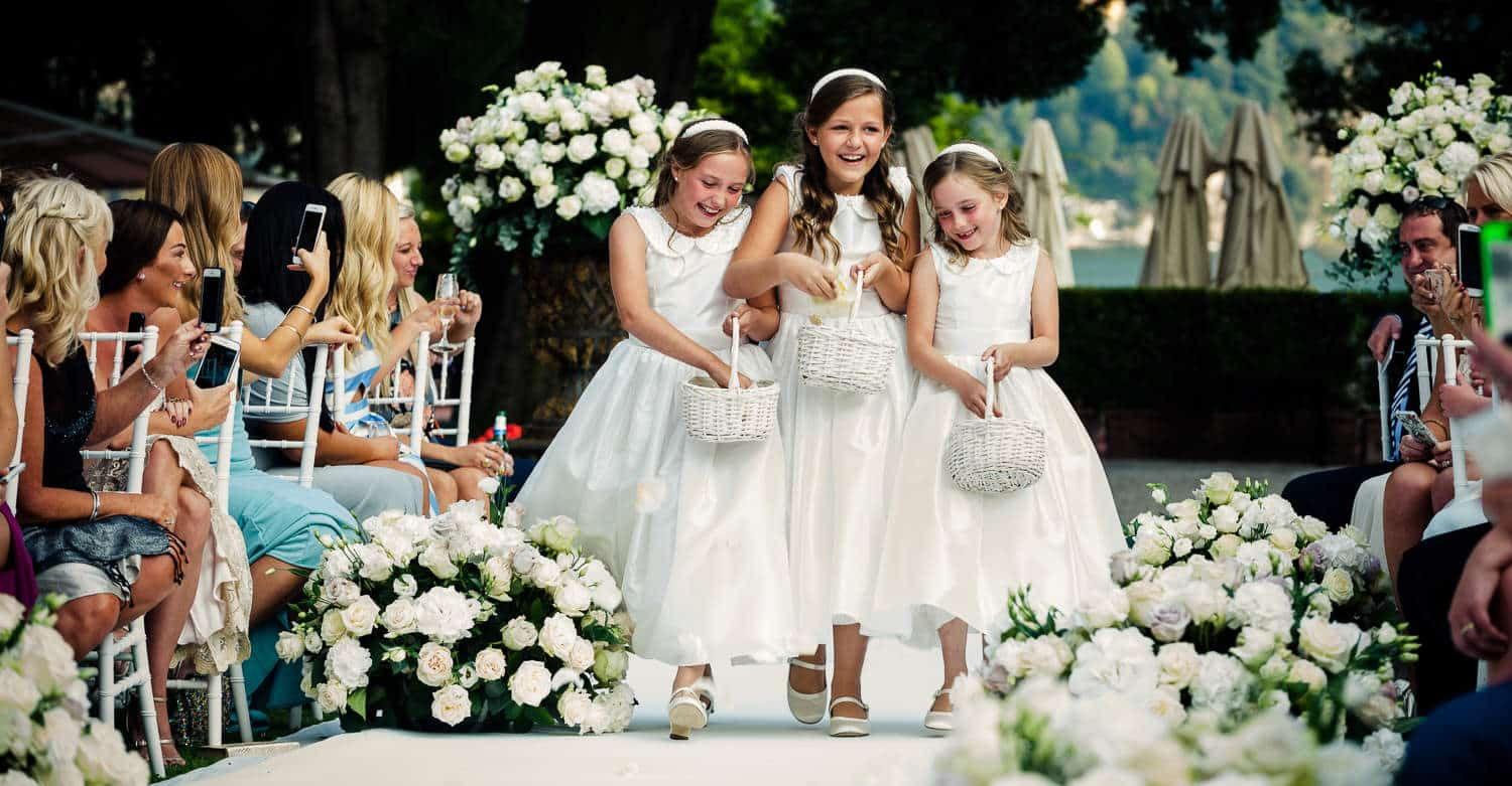 Flowergirls Como Lake, Wedding Photographer Italy