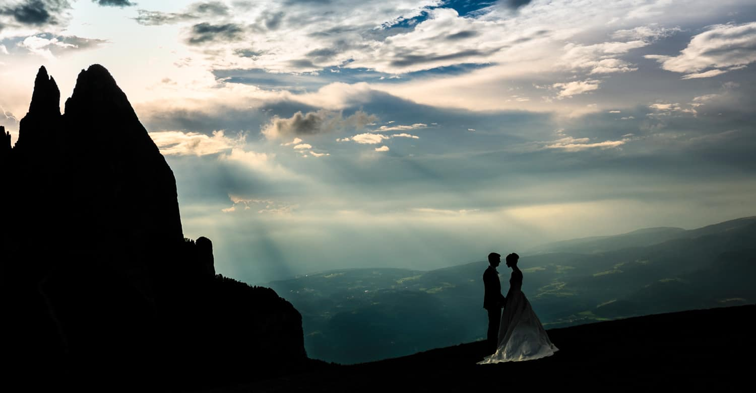 wedding photo dolomites italy