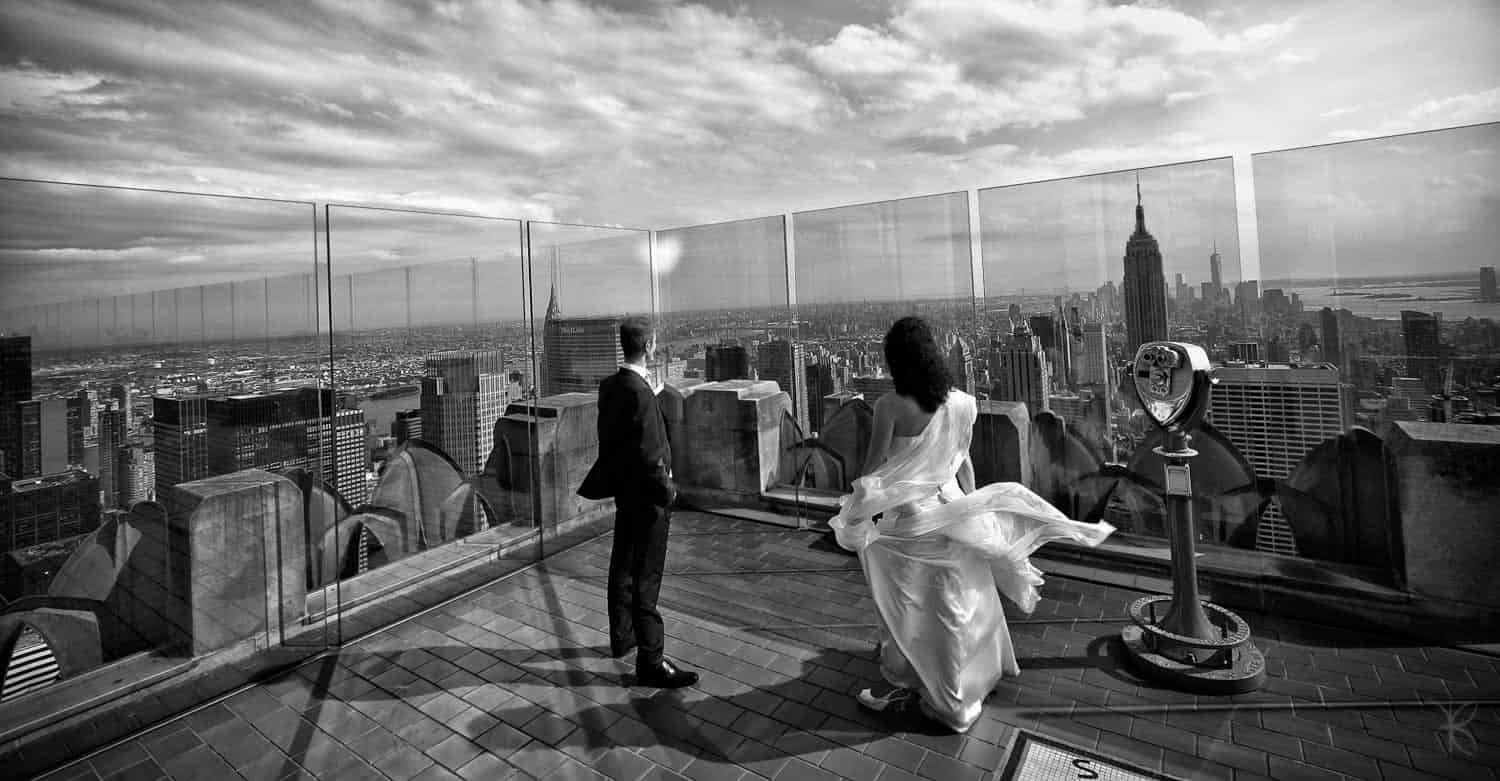 wedding photo top of the rock